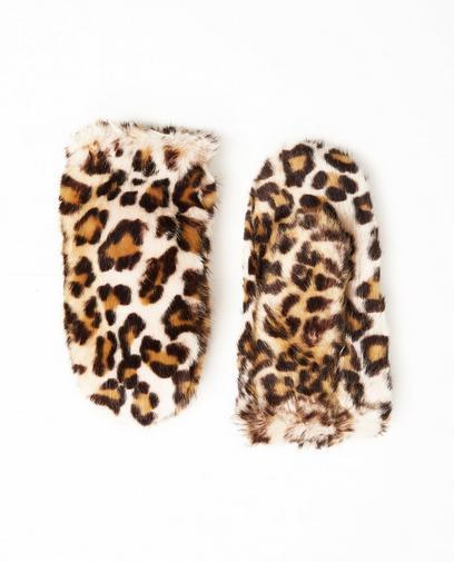 Moufles, imprimé léopard